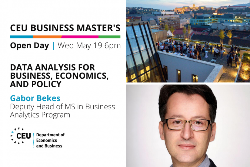CEU Business Masters Open Day: Data Analysis for Business, Economics, and Policy