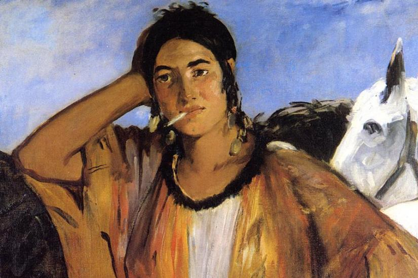 Édouard Manet : Gypsy with a Cigarette (1862)