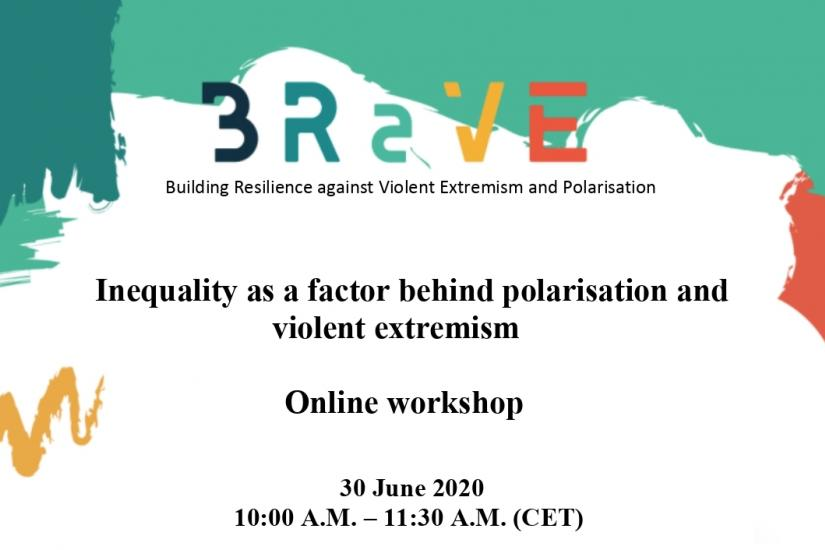 Inequality as a factor behind polarisation and violent extremism