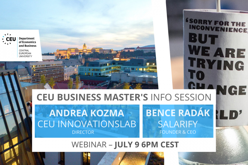 CEU Business Master's InnovationsLab iLab info session business analytics finance technology management innovation startup incubator accelerator fintech
