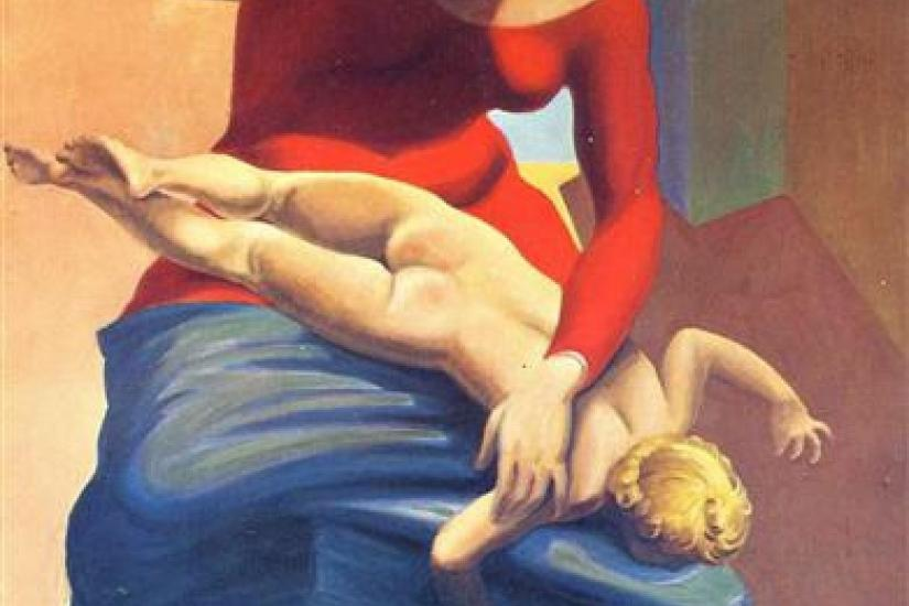 The Virgin Spanking the Christ Child before Three Witnesses: Andre Breton, Paul Eluard, and the Painter by Max Ernst (1926)