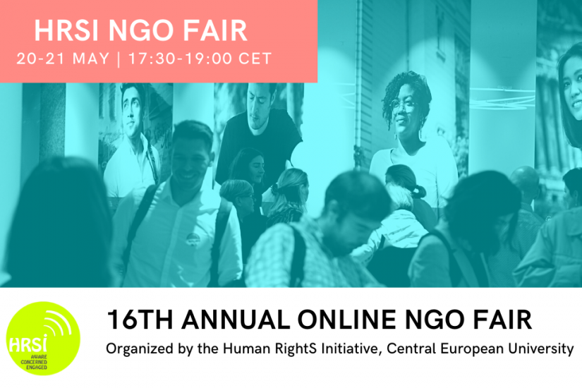 16th Annual NGO Fair, organized by Human RightS Initiative, 20 and 21 May, 17:30-19:00 CET