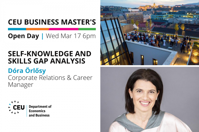 CEU Business Master's Info Session: Self-knowledge and Skills Gap Analysis