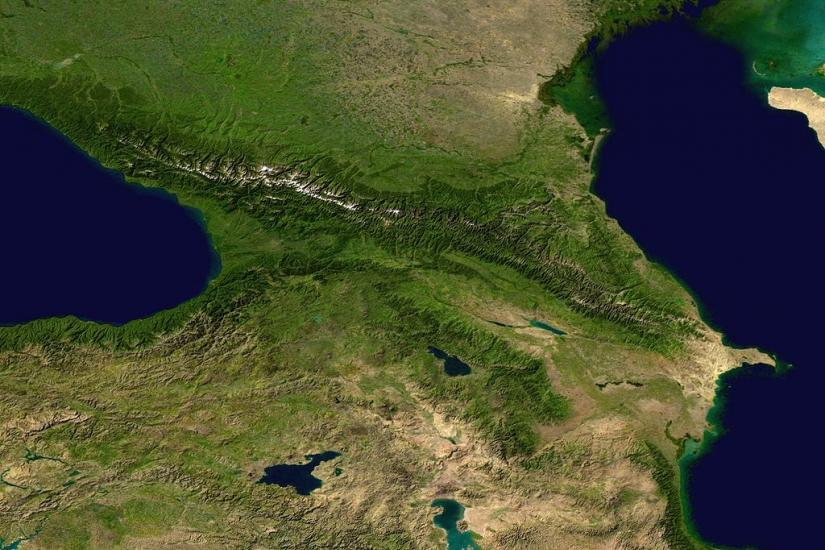 South Caucasus Satellite Image