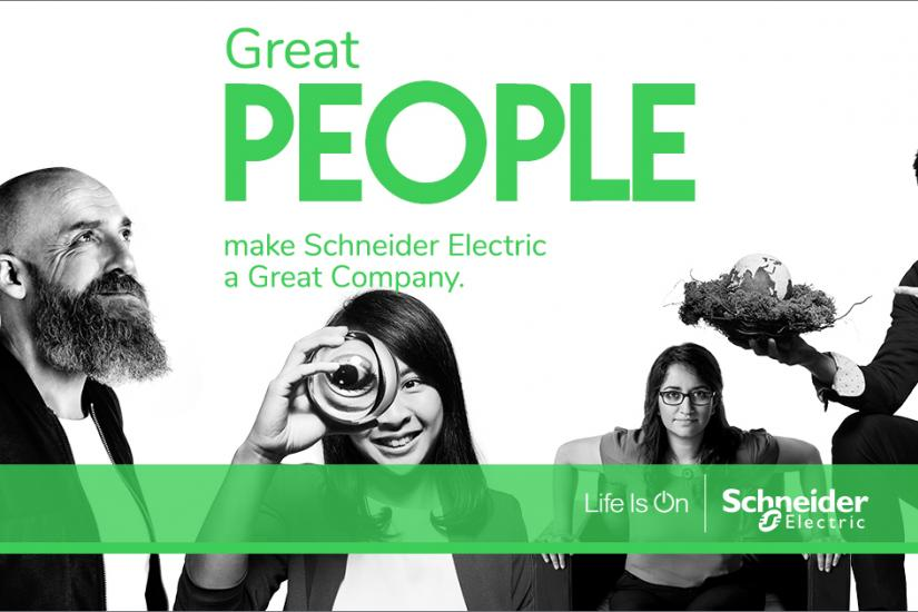 People with Schneider Electric logo